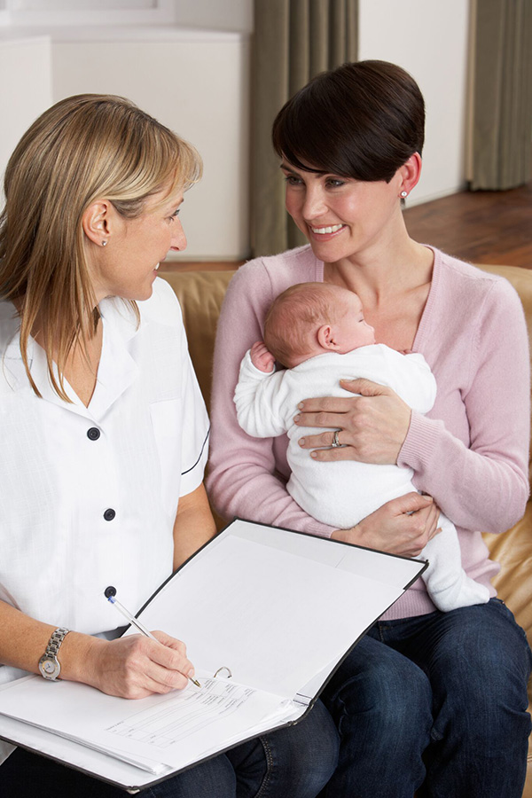consultation with a doula or newborn care specialist